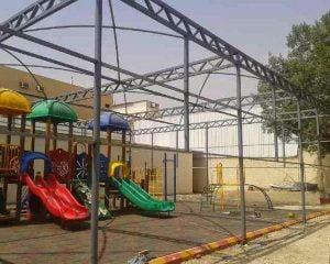 محل لتركيب مظلات المدارس بجنوب الرياض