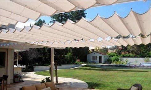 مظلات قماش للحدائق مع الضمان