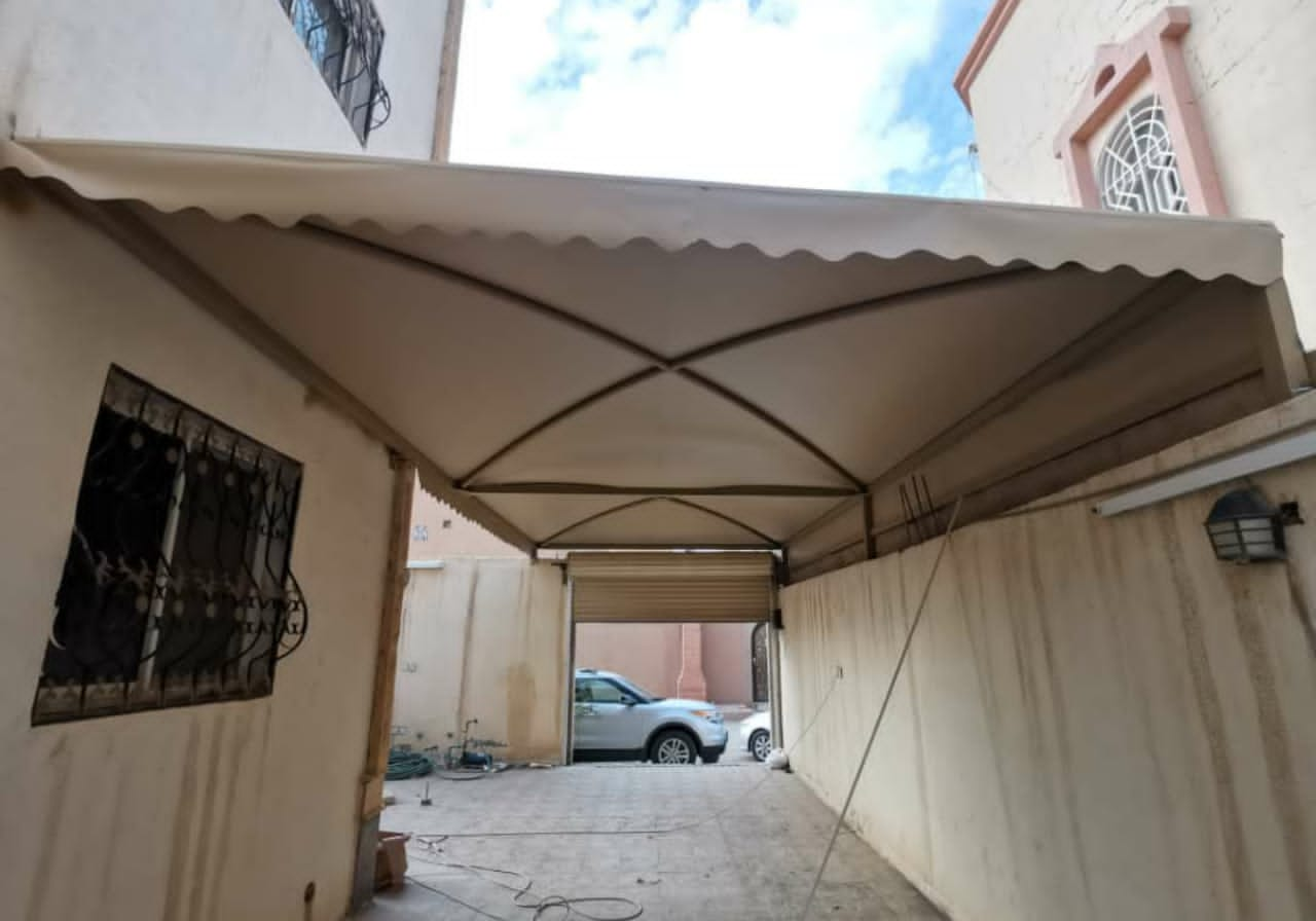 جلسات مظلات حديد للحدائق واحواش المنازل