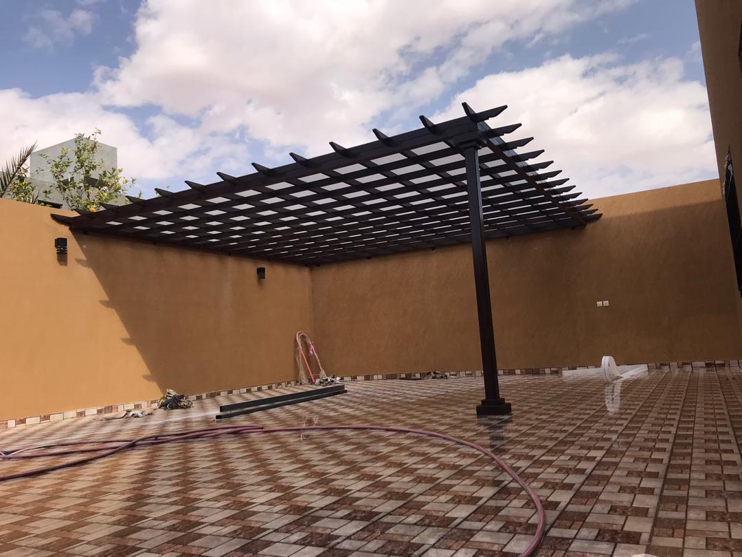 تركيب مظلات في حي التعاون الرياض